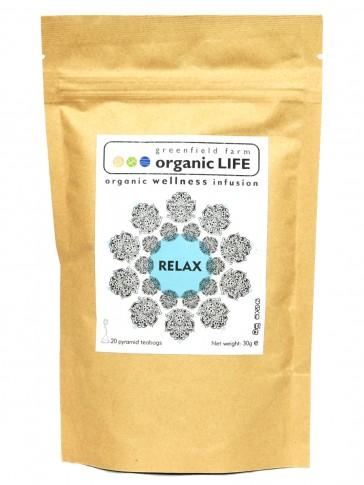Organic LIFE Relax Tea - 20 Tea Bag Pouch